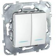 Механизмы Unica белый цвет