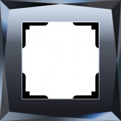 Рамка из стекла 1 пост Werkel Diamant