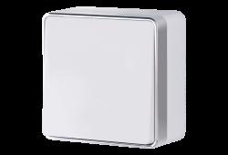Одноклавишный влагозащищенный выключатель наружного монтажа Werkel Gallant белый
