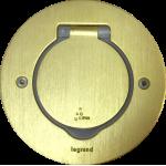 Блок с розеткой врезной в пол или стол Legrand IP44 89711 бронза