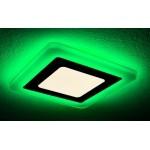 Светильник светодиодный с ЗЕЛЕНОЙ подсветкой квадратный 3+2W Truenergy 10259