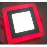 Светодиодная панель с подсветкой красного цвета 6+3W Truenergy 10256