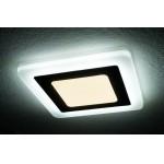 Светильник светодиодный с БЕЛОЙ подсветкой квадратный 3+2W Truenergy 10267