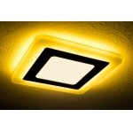 Светильник светодиодный с ЖЕЛТОЙ подсветкой квадратный 3+2W Truenergy 10271