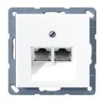 Компьютерная двойная розетка UAE Jung Eco profi белый