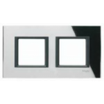 Рамка 2 поста Unica Class черное стекло