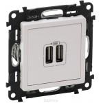 Зарядное устройство с двумя USB-разъемами 240В/5В 1500мА слоновая кость Valena life 753512