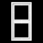 РАМКА 2 поста белый  Jung LS990 арт.LS982WW