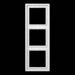 РАМКА 3 поста белый  Jung LS990 арт.LS983WW