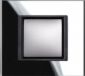 Рамка 1 пост Unica Class черное стекло