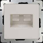Розетка сдвоенная компьютерная 2*RJ-45 Werkel слоновая кость