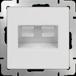 Розетка сдвоенная компьютер/телефон RJ-45/RJ-11 Werkel белый