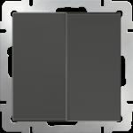 Двухклавишный проходной выключатель Werkel коричневый