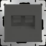 Розетка сдвоенная компьютерная 2*RJ-45 Werkel коричневый