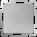 Одноклавишный проходной выключатель Werkel серебряный