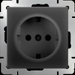 Розетка с заземлением 2Р+Е Werkel черный