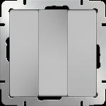 Трехклавишный выключатель Werkel серебряный