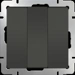 Трехклавишный выключатель Werkel коричневый