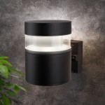 Уличный настенный светодиодный светильник Черный 1530 TECHNO LED
