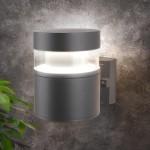 Уличный настенный светодиодный светильник Серый 1530 TECHNO LED
