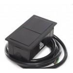 Врезной блок на 2 USB-разъема ASA Versahit mono, черный матовый (укомплектован)