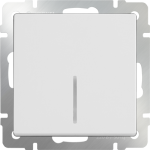 Одноклавишный выключатель с подсветкой Werkel белый