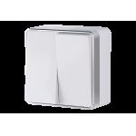 Двухклавишный выключатель наружного монтажа Werkel Gallant белый