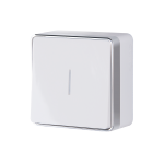 Одноклавишный выключатель с подсветкой наружного монтажа Werkel Gallant белый